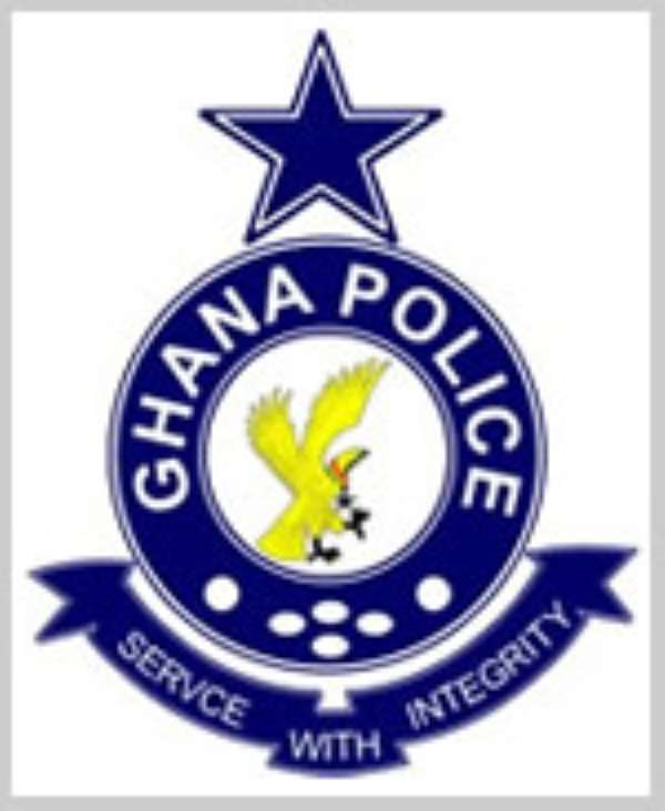 Police on faded number plate